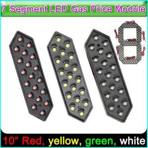 """Image 1 - Module daffichage des numéros Digita 10 """", panneaux LED 7 segments des Modules Module de prix du gaz LED rouge, jaune, vert, blanc 7 segments"""