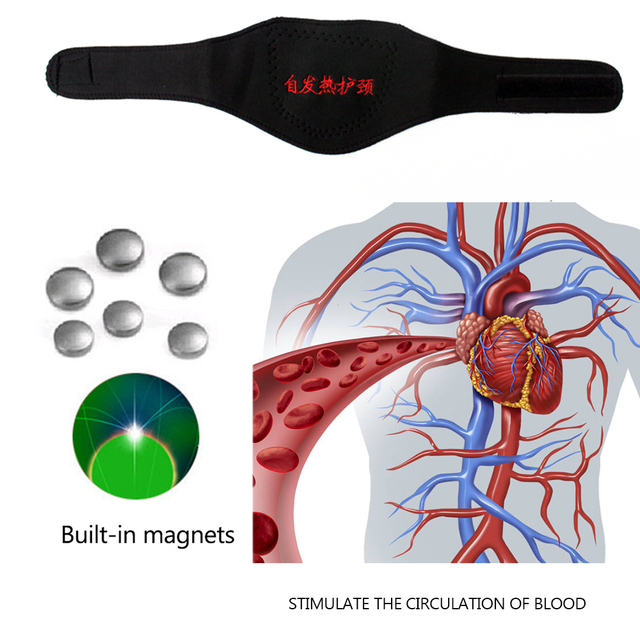 1pcs Magnetic Neck Support Tourmaline Belt Magnet Therapy Self-heating Brace Wrap Neck Protect Band Massager Belt Health Care 5