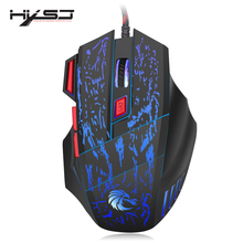 HXSJ Newest H300 5500DPI Professional USB Wired Optical 7 Buttons Gaming Mouse for Laptops Desktop Mouse Gamer Peripherals