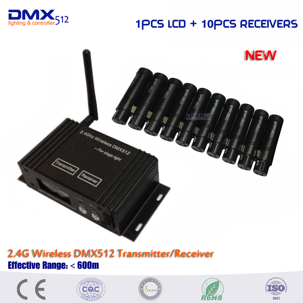 DHL Free Shipping 11pcs/lot 2.4G Wireless DMX 512 Receiver and Transmitter Controller DMX512 Lighting Controller wireless dmx 512 receiver transmitter controller 2 4g wireless dmx512 lighting controller dmx512 aliexpress standard shipping