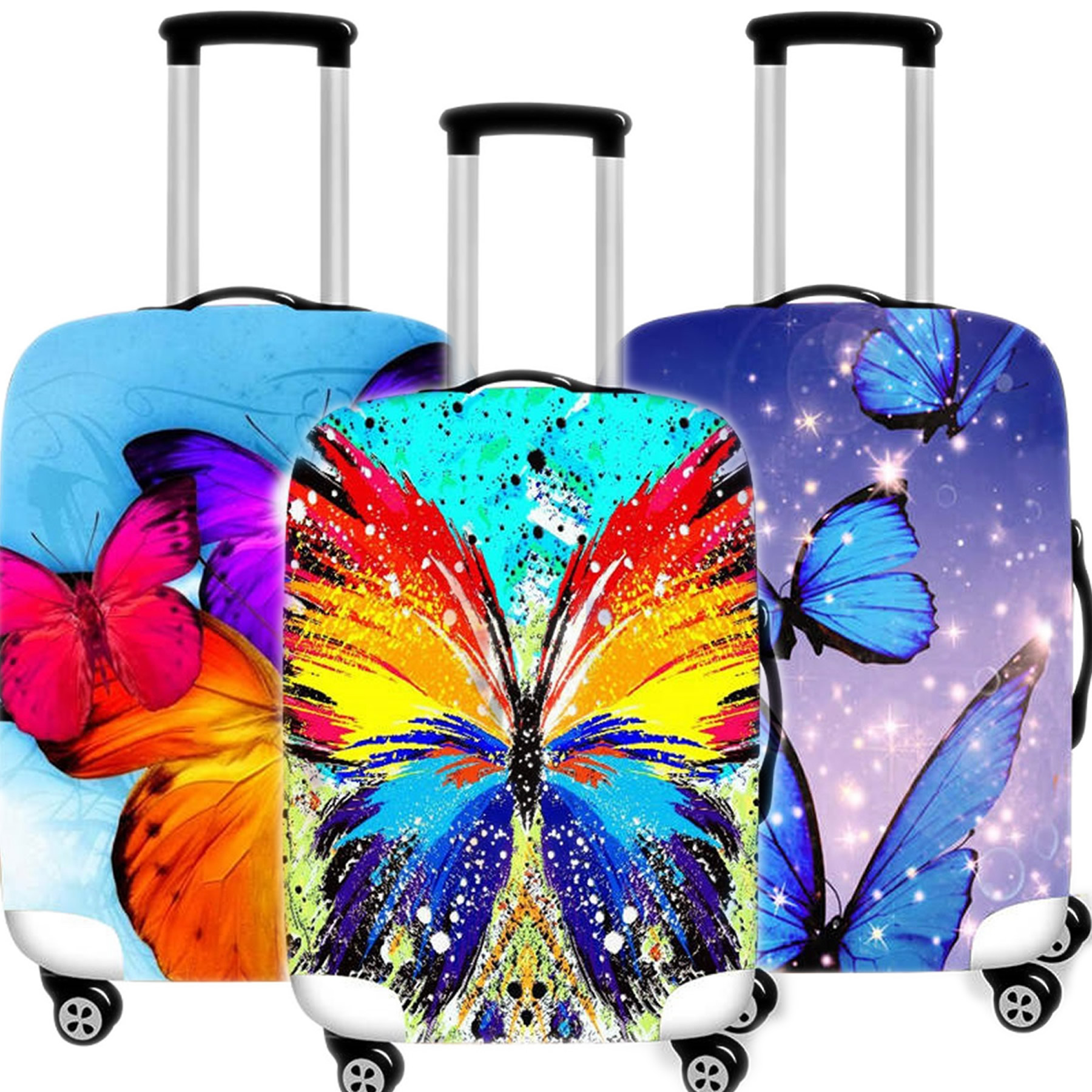 Fashion Thicken Suitcase Case Protective Cover Elastic Travel Luggage Dust Cover Accessories Suitcases Organizer 18 To 32 Inches