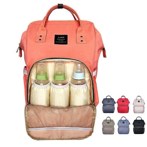 Brand Designer font b baby b font diaper bag backpack Big Capacity font b baby b
