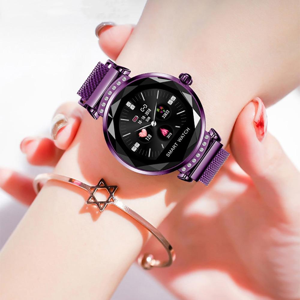 Smart Watch Women Fitness Tracker Steel Smart Bracelet Waterproof Heart Rate Monitoring Sport Bluetooth For Android IOS Phone
