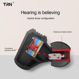 Image 5 - Ak trn v20 dd + ba híbrido no ouvido fone de alta fidelidade dj monitor correndo esporte fone de ouvido headplug 2pin cabo trn v80/v30/bt20/x6