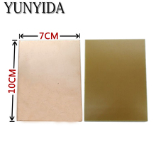 11 03 5pcs 7x10cm PCB Single Sided Copper Clad plate DIY PCB Laminate Circuit Board free