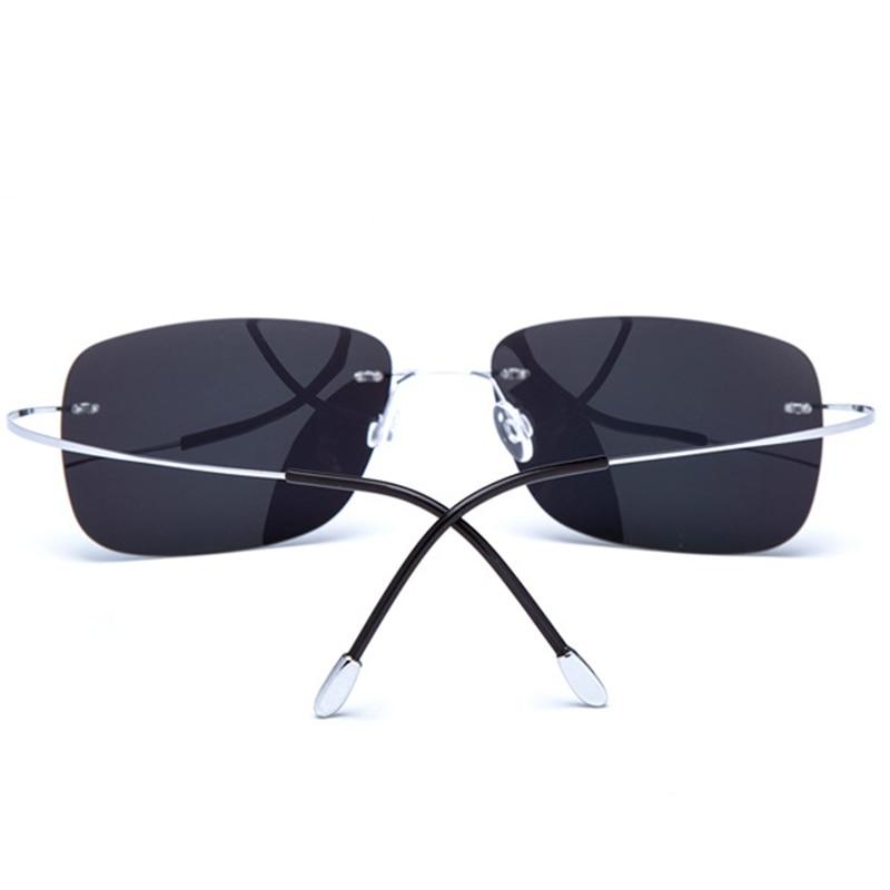 389e4f8a8a3 Memory Pure Titanium Polarized Sunglasses Men 2018 Luxury Brand Designer  Sun Glasses Ultra light Rimless For Male RS104-in Sunglasses from Apparel  ...