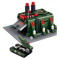 DIY 794pcs Red Alert Chariot Factory Series Small Particles Assembled Toy Building Blocks Compatible with L Brand