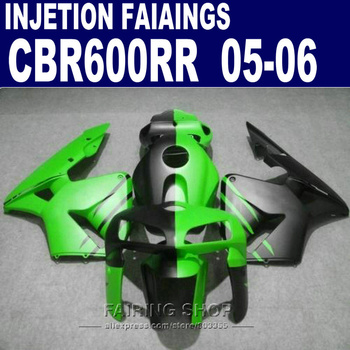 For Honda Fairings CBR600 RR 2006 2005 cbr-600rr 05 /06 Fairing kit customize free GREEN/ BLACK l60