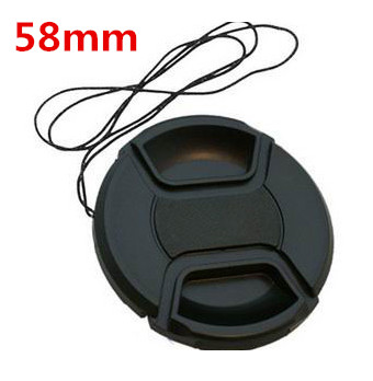 Free shipping 58mm center pinch Snap-on cap cover LOGO for C 58 mm Lens