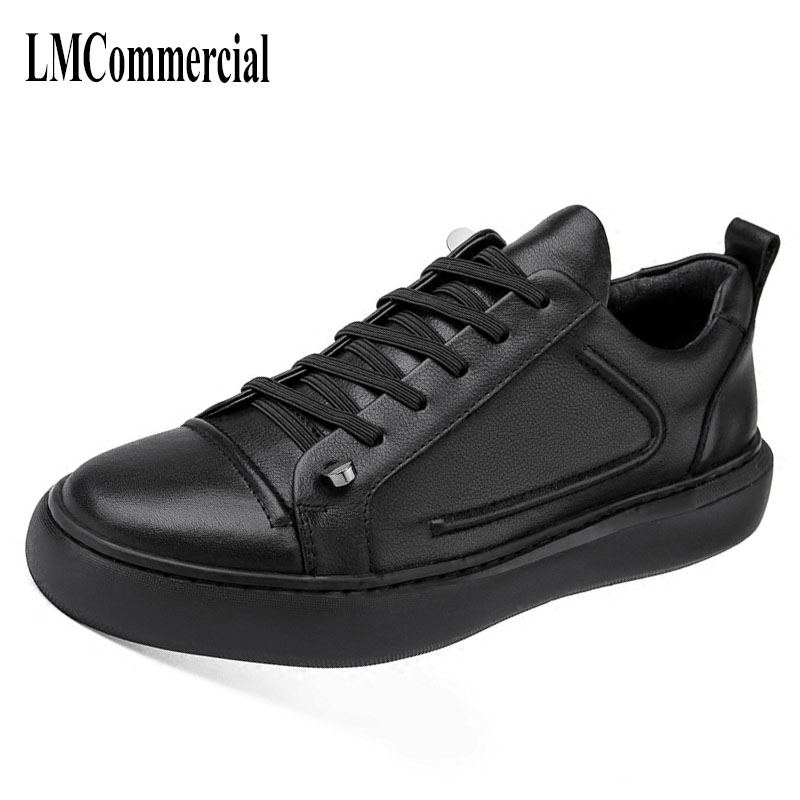 Black men shoes low shoes in autumn and winter trend of Korean retro all-match leather business leisure shoes breathable cowhide dreambox 2017 autumn and winter trends in europe and america woven leather breathable shoes in thick soled sports shoes men