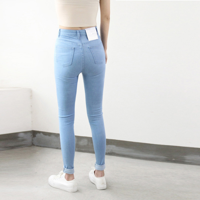 American Style Pencil Denim Pants