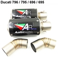 1 Pair for Ducati 796 795 696 695 Exhaust Muffler Pipe Set Carbon Fiber Motorcycle Muffler Exhaust Pipe and  Down Pipes