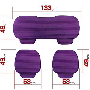 Image 5 - Car Seat Cover Front Rear Flocking Cloth Cushion Non Slide Auto Accessories Universa Seat Protector Mat Pad Keep Warm in Winter