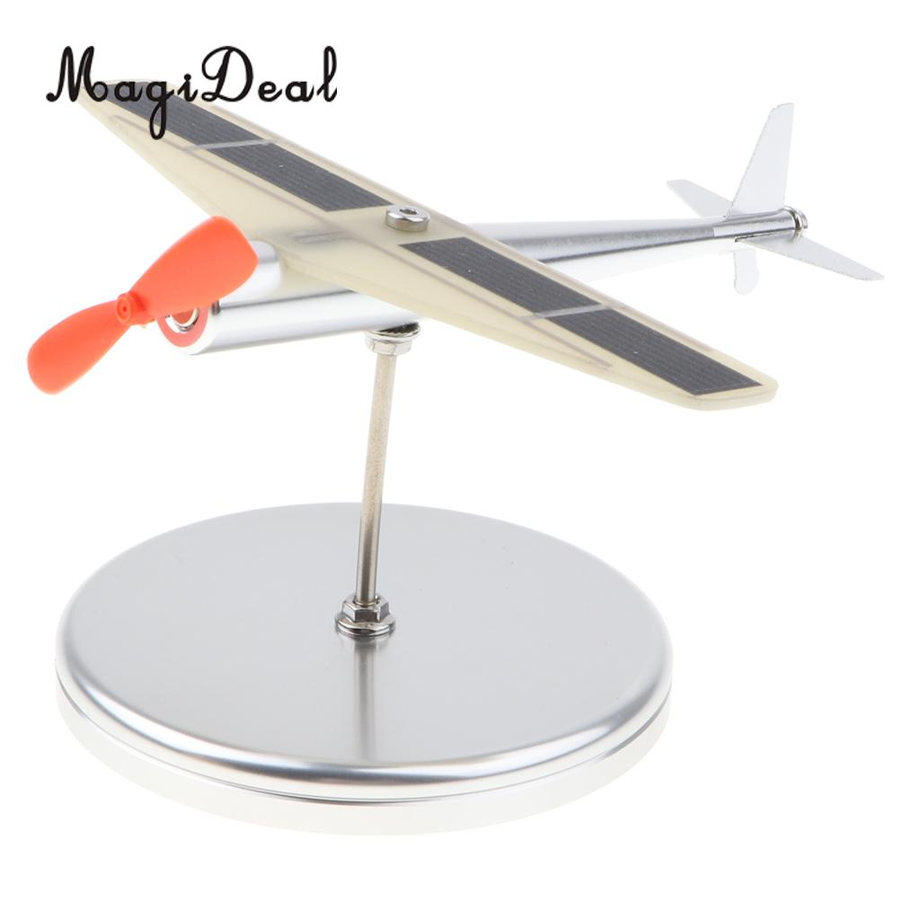 Collection-Toy Aircraft Propeller Showcase-Display Plane Solar-Powered Auto Metal Car-Ornament