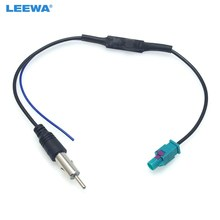 Leewa fio de antena, rádio fm, adaptador macho para volkswagen/audi/bmw/ford/citroen/chrysler # ca6005