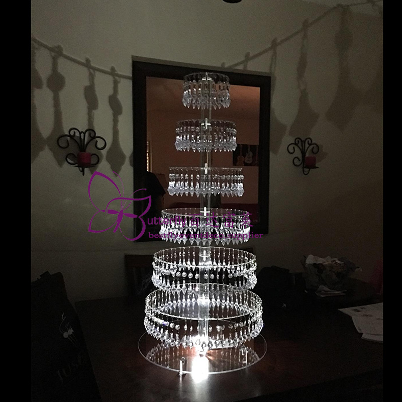 7 Tier Acrylic Cupcake Tower Stand-2