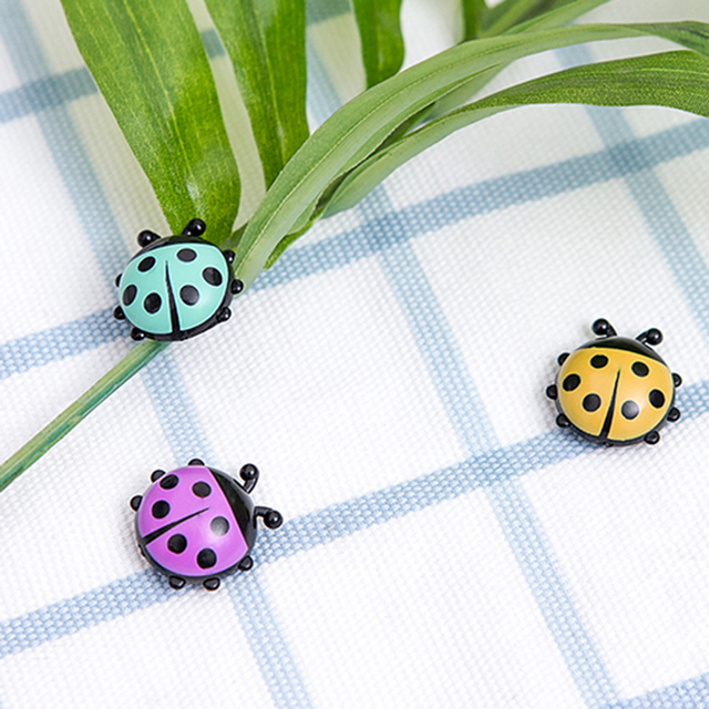 6Pcs Lovely Ladybug fridge magnets home decor decorative refrigerator Magnetic sticker Room Decoration Message paper Fixed paste 4