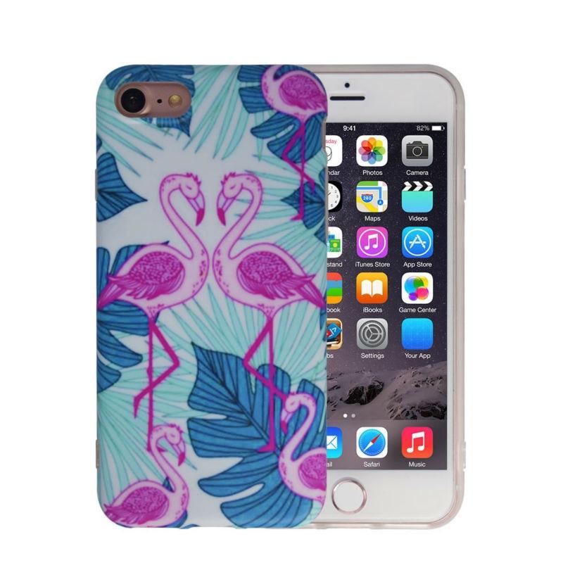 Sevimli Flamingo Girly Telefon Çanta Çantası, iPhone 6 6S 7 - Cib telefonu aksesuarları və hissələri - Fotoqrafiya 5