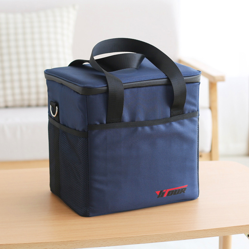 top grade waterproof portable fabric big insulated cooler bag black blue car trunk freezer men picnic