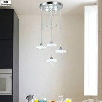 Современный хрустальные люстры 3 головки творческих светодиодный Нержавеющаясталь, светло светильник светодиодный бар подвесные светиль