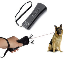 Self Defense Supplies Portable Double Super Ultrasonic Dog Chaser Stops Animal Attacks Personal Defense Infrared Dog Drive Train(China)