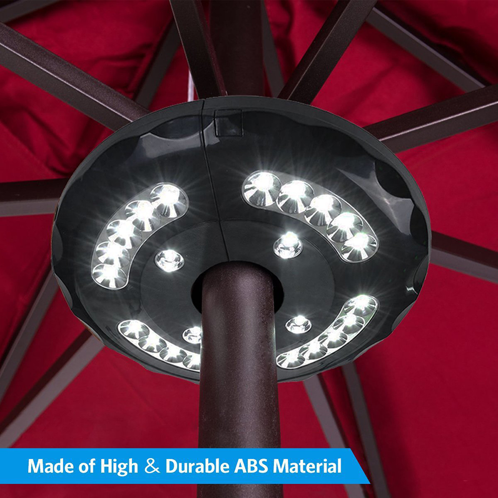 Responsible 3 Light Mode Pole Patio Umbrella Light 24 Led Bulb Battery Operate Light For Yard Garden Tent Camping Wireless Outdoor Lighting Home