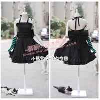 K-on mio akiyama cosplay kostüm siyah ilmek elbise parti kostümleri kostüm boyutu