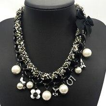 Encantos Canal CC Camellia Carta 5 ABS Perla Gargantilla Collar Mujeres Collares Declaración de Joyería de Lujo de Marcas de Moda de Joyería