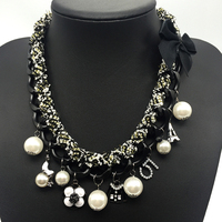 1bcfe09779bd Charms Channel Cc Necklace Luxury Brands Fashion Jewellery Camellia Number  5 Tower ABS Pearl Jewelry Statement