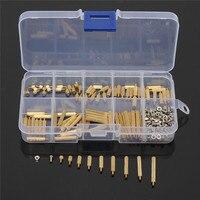 270pcs Set Brass M2 3 25mm Male To Female Brass Standoff Screw Nut Assortment Kit Set
