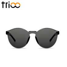 TRIOO Simple Cool Designer Transparent Sunglasses Women Men Street Show Style Oculos One Piece Clear Lens Sun Glasses Eyewear