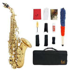 Image 5 - LADE Brass Golden Carve Pattern Bb Bend Althorn Soprano Saxophone Sax Pearl White Shell Buttons Wind Instrument