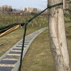 Image 5 - במיוחד גדול מצנח ערסל 210 t ניילון עמיד נייד חיצוני תליית Hamac לחצר אחורית כפול אדם Hamak עם עץ רצועה