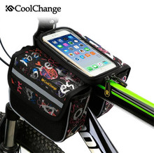 COOLCHANGE Bicycle Bag Frame Front Head Top Tube Bike Phone Riding MTB Cycling Saddle Accessories