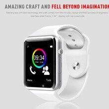 Freies Verschiffen A1 Armbanduhr Bluetooth Smart Uhr Sport Pedometer mit sim Kamera Smartwatch für Android Smartphone Russland T50