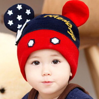 Baby Hand Label Winter Hats Newborn Photography Props Crochet Caps Mikey Unisex Children S Beanie Knitted