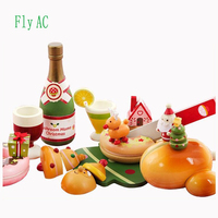 Fly AC Kids Learning & Education Wooden toys Christmas carnival dessert food Play Food Set