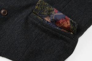 Image 5 - ผู้ชายอย่างเป็นทางการเสื้อกั๊กชุดเสื้อกั๊ก slim สามปุ่มเสื้อกั๊กขนสัตว์ผู้ชายสบายๆอังกฤษ autumnn ชุดเสื้อกั๊ก M87