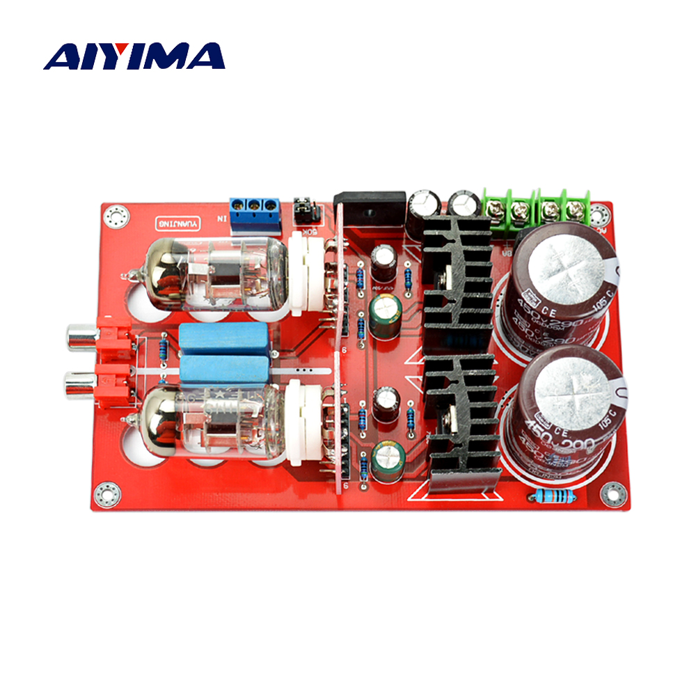 Aiyima Tube Audio Amplifier 6N11 Vacuum Tube Preamplifier Board Bile Preamp Amp 6N11 Bile Pre-board 3206 amplifier aluminum rounded chassis preamplifier dac amp case decoder tube amp enclosure box 320 76 250mm