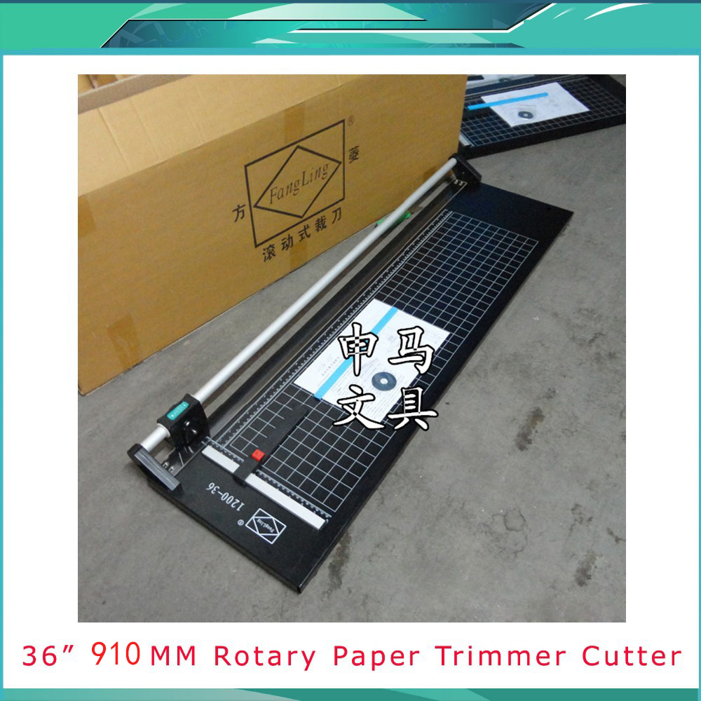 Free Shipping Office Rotary Paper Trimmer, Paper disk cutter, Straight Dashed Wavy line for 91cm, 36inch