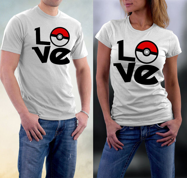 cf34fe642f Couple T-shirt Pokemon Women Men Go T-shirt Team Valor Mystic Instinct  Pokeball Men Women Tops T-shirt Tee