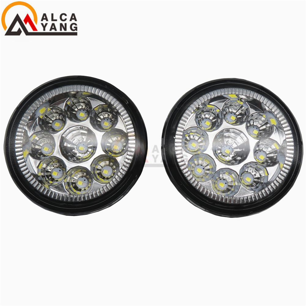 1set Car styling front bumper LED fog Lights high brightness fog lamps For NISSAN TIIDA Saloon (SC11X) 06-15 MURANO (Z51) 07-15 set j087 black steel 10th anniversary front bumper with fog lights fits 07 17 jeep wrangler