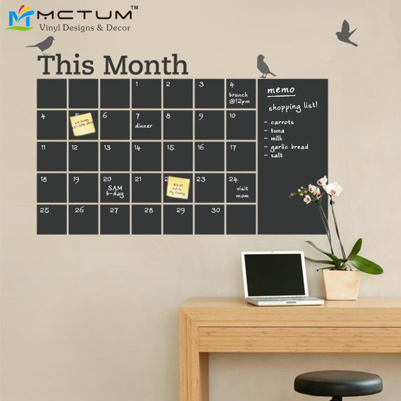 Diy Kitchen Calendar : Aliexpress buy new diy vinyl chalkboard wall