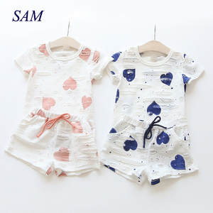 AiLe Rabbit Baby Girls Summer Kids Children's Clothing Suit