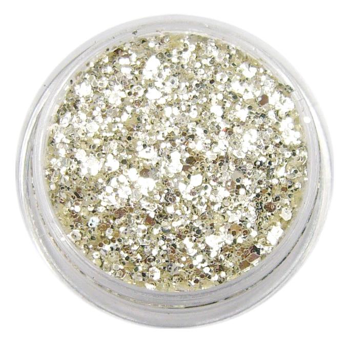 1SM 1/смешанный размер красивая чистое серебро блестящая в УФ-свете пудра лист пыли дизайн ногтей украшения маленький тонкий блеск, 5 г банка, YTKL02