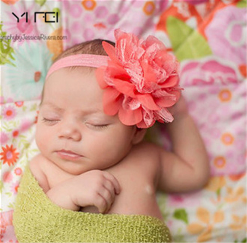 YIFEI children hair wear for kid head band flower headband baby hair accessories Photo props Hot Sale baby girl elastic headband hot sale hair accessories headband styling tools acessorios hair band hair ring wholesale hair rope