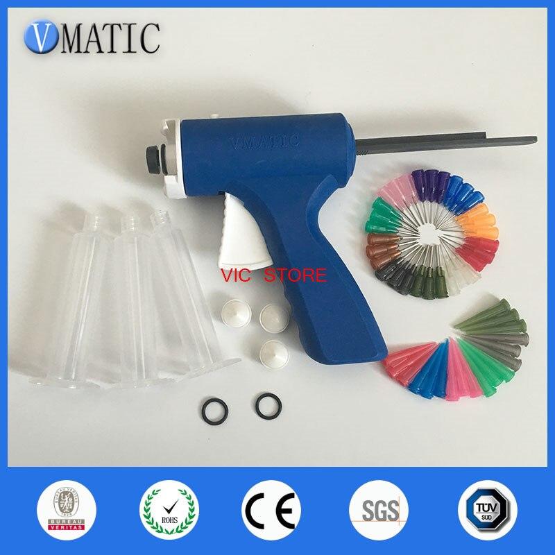 Free Shipping Quality Assurance 10 Cc / Ml Glue Dispensing Plastic Caulk Syringe Gun With Needles