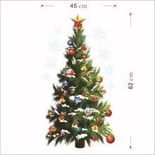 45*82cm Christmas Tree Wall Sticker Vinyl Removable Wall Stickers Home Wall Decor Poster vinilos paredes