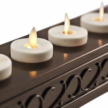 Ksperway LED Oplaadbare Vlamloze Thee Kaarsen ABS Plastic Met Timer/Remote/Lader Houder Ivoor-Set Van 6