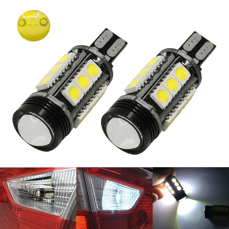 Hot Selling 2PCS/Lot T15 W16W 15 SMD White LED 5050 COB High Power Car Auto Reverse Parking Lights DRL Bulb DC12V